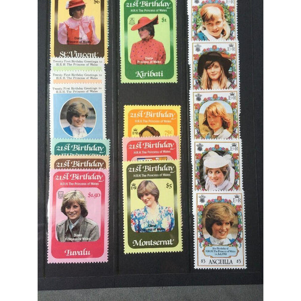 21st Birthday Of The Princess Of Wales Mixture Of MNH Stamp Sets (see pics) - uk-cover-lover