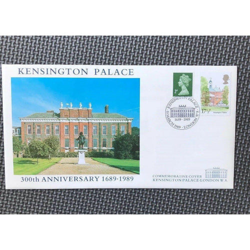 G.B Kensington Palce 300th Anniversary 1689-1989 Commemorative Cover 10/03/89 - uk-cover-lover