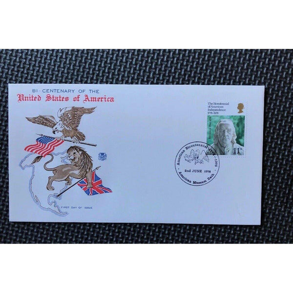 G.B USA Bicentenary PM 'American Bicentennial 1776-1976' 02/06/76 - uk-cover-lover