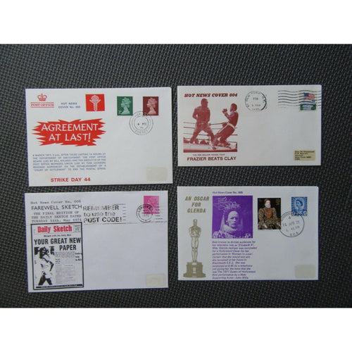 1971 Hot News Commemorative Covers (4 Covers, All Pictured) Rare?? - uk-cover-lover