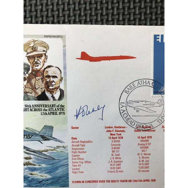 50th Anniversary Of The First Westward Flight - K D Leney Signed & Flown Cover - uk-cover-lover