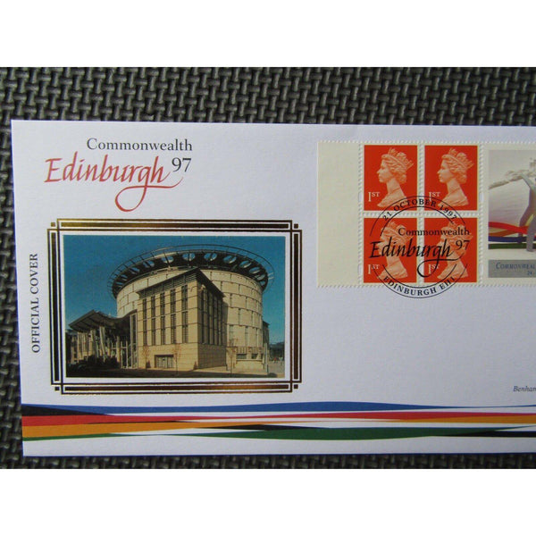 "G.B Benham Cover ""Commonwealth Edinburgh 97"" BLCS 136 21/10/97 - uk-cover-lover"