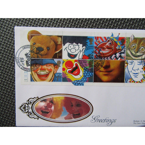 "G.B Benham First Day Cover ""Greetings"" 26/03/89 - uk-cover-lover"