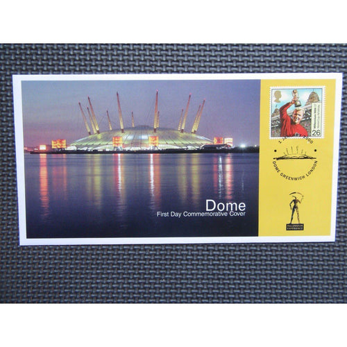 G.B Dome First Day Commemorative Cover - PM Dome, Greenwich London 01/01/00 - uk-cover-lover
