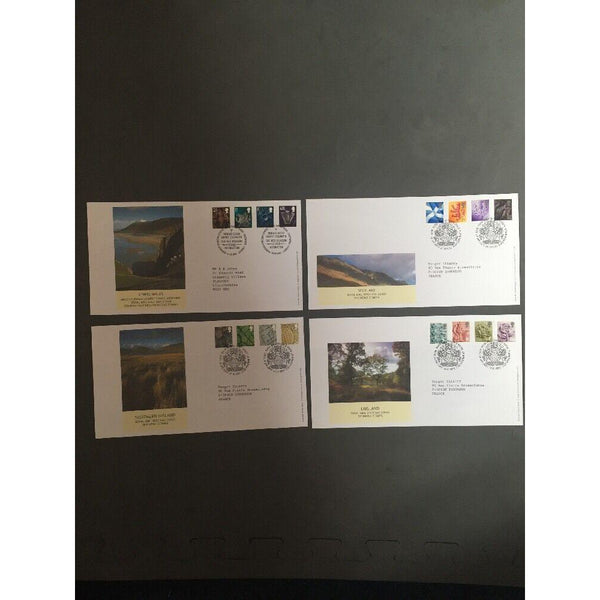 G.B FDC Country Pictorials All 4 Covers 14/10/03 S/H/S - uk-cover-lover