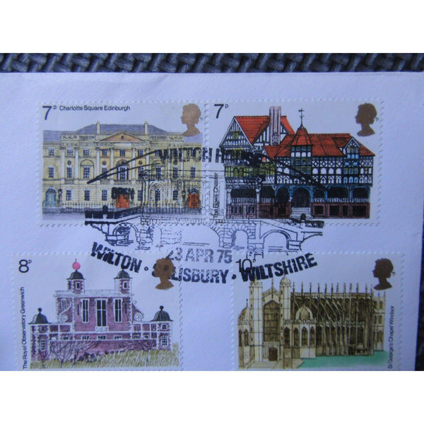 G.B Cotswold FDC - Architecture- PM 'Wilton House, Open Day' 23/04/75 Cat £50 - uk-cover-lover