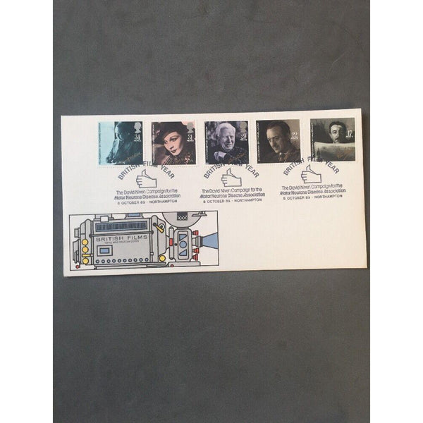 "G.B FDC - British Film Year - PM ""British Film Year, David Niven"" 08/10/85 - uk-cover-lover"