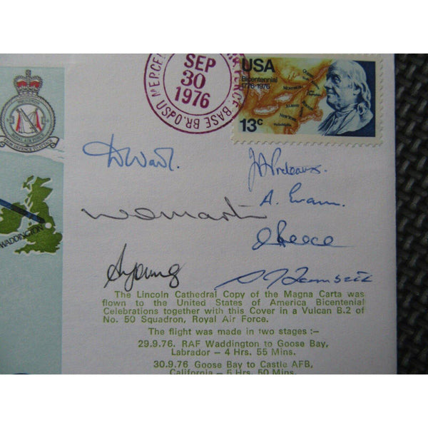 C44 Commemorating The Transfer Of The Magna Carta Mutli Signed Cover 30/09/76 - uk-cover-lover