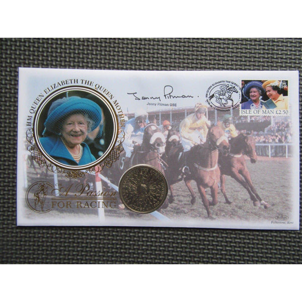 1998 Benham Coin Cover - A Passion For Racing Signed by Jenny Pitman - uk-cover-lover