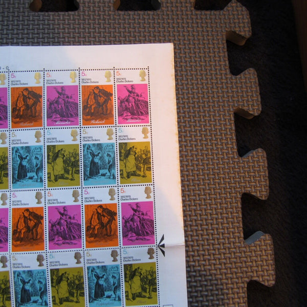 Literary Anniversaries 03/06/70 2 Full Sheets Of 120 Stamps - uk-cover-lover