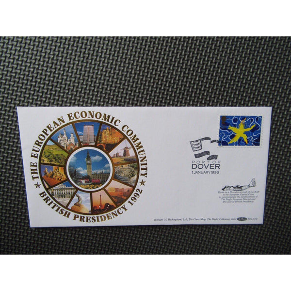 "Benham BLCS78 ""Single European  Market"" Flown Cover, Port Of Dover 01/01/93 - uk-cover-lover"