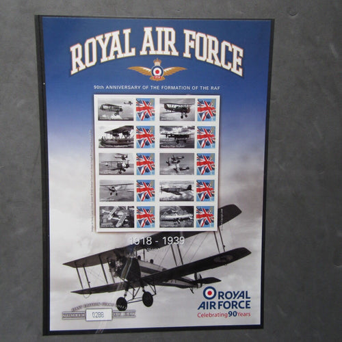 G.B 2008 Stamp Sheet - Royal Air Force 1918 - 1939 Celebrating 90 Years Ltd Ed. - uk-cover-lover