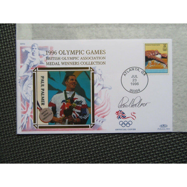 "1996 Olympic Games Atlanta Bentham Cover Signed ""Paul Palmer"" 23/07/96 - uk-cover-lover"