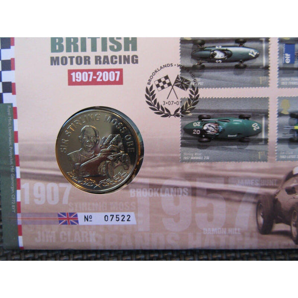 G.B Coin Cover - British Motor Racing - 03/07/07 - uk-cover-lover
