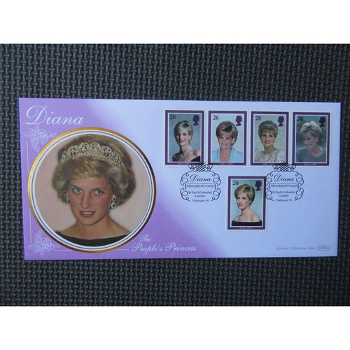 Benham FDC - Diana Princess Of Wales PM Diana, St Paul's Cathedral - 03/02/98 - uk-cover-lover