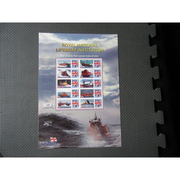 BC-135 2008 - Royal National Lifeboat Institution - Smilers Sheet - uk-cover-lover