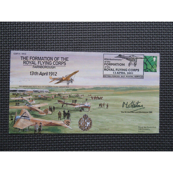 89th Anniversary of the Royal Flying Corps Signed Lord Mottistone - 13/04/01 - uk-cover-lover