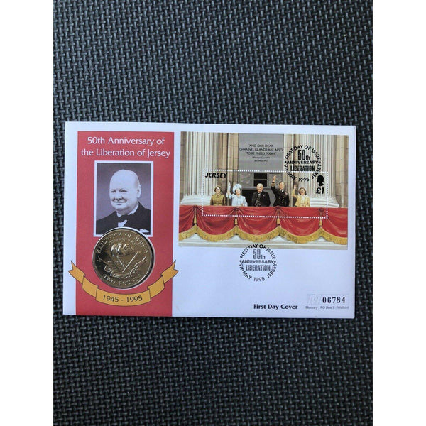 Jersey Coin Cover - 50th Anniversary Of The Liberation Of Jersey - 09/05/95 - uk-cover-lover