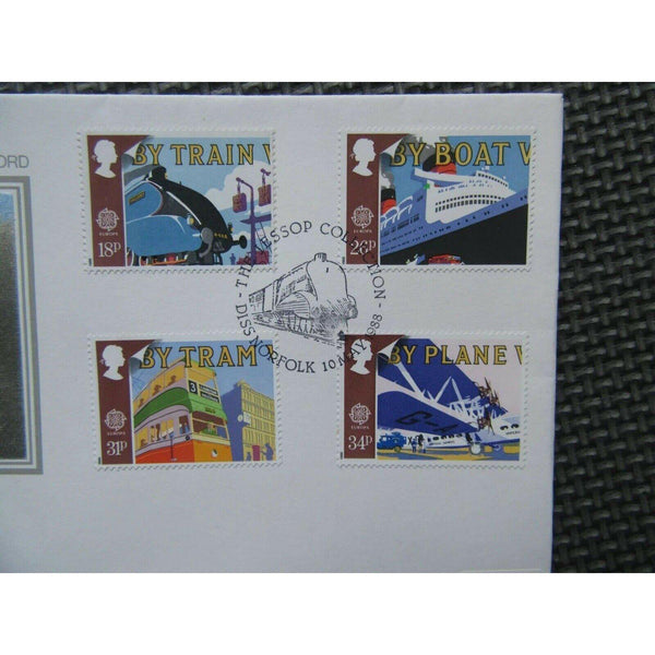 1988 P.P.S FDC - Transports & Communications PM The Jessop Collection, Diss - uk-cover-lover