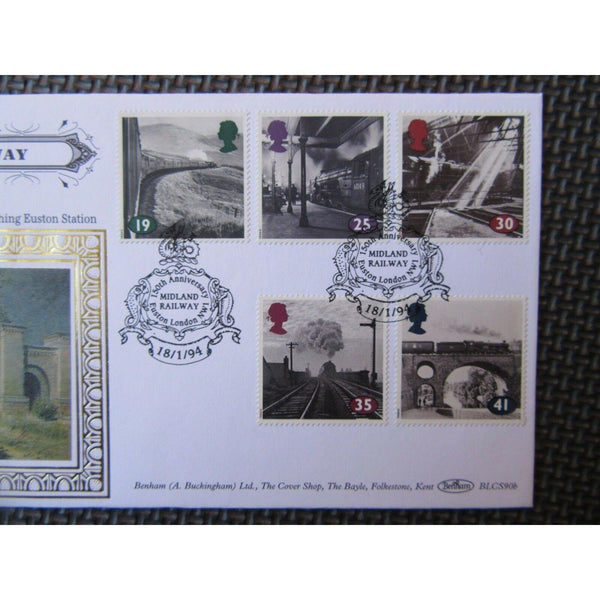 "Benham BLCS 90 ""The Age Of Steam"" PM ""Midland Railway, Euston"" 18/01/94 - uk-cover-lover"