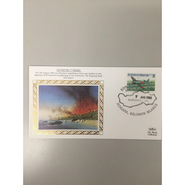 "Benham Cover WWII ""Guadalcanal"" 07/08/92 PM Solomon Islands PK4 - uk-cover-lover"