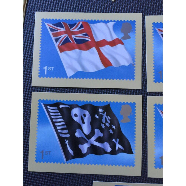 Royal Navy Flags 2001 - Complete Set Of 5 Mint PHQ Cards - No PSM 07 - uk-cover-lover