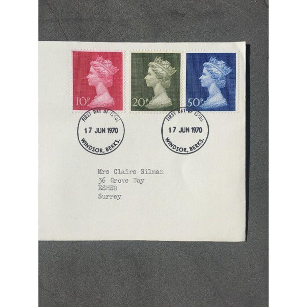 "G.B High Value New Definitives 17/06/70 PM ""Windsor, Berks"" - uk-cover-lover"