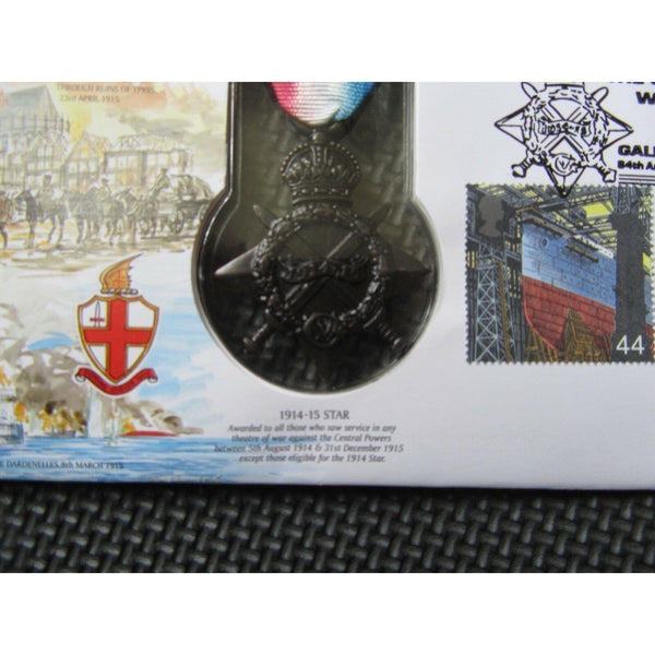 "1999 Benham Replica Medal Cover ""1914-1915 Star"" JS(MIL)5 - uk-cover-lover"