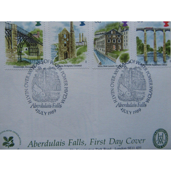 G.B CoverCraft 'Industrial Archaeology' PM 'Aberdulais Falls, W. Glam' 04/07/89 - uk-cover-lover