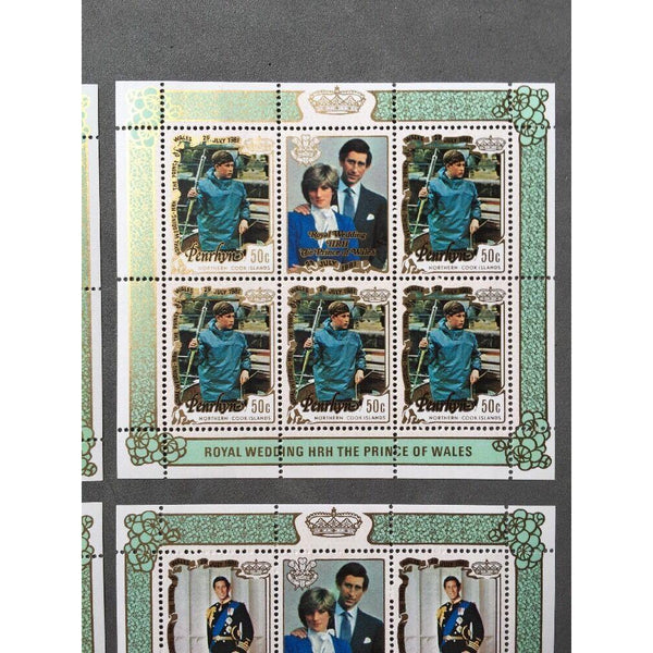 Penrhyn Islands 1981 SG#229-233 Royal Wedding MNH Souvenir Sheets Set - uk-cover-lover