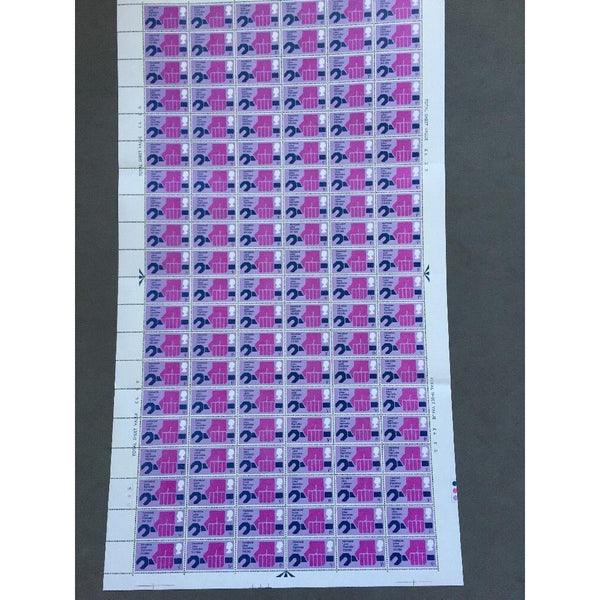 02/04/69 Notable Anniversaries 1s International Labour Organisation Stamp Sheet - uk-cover-lover