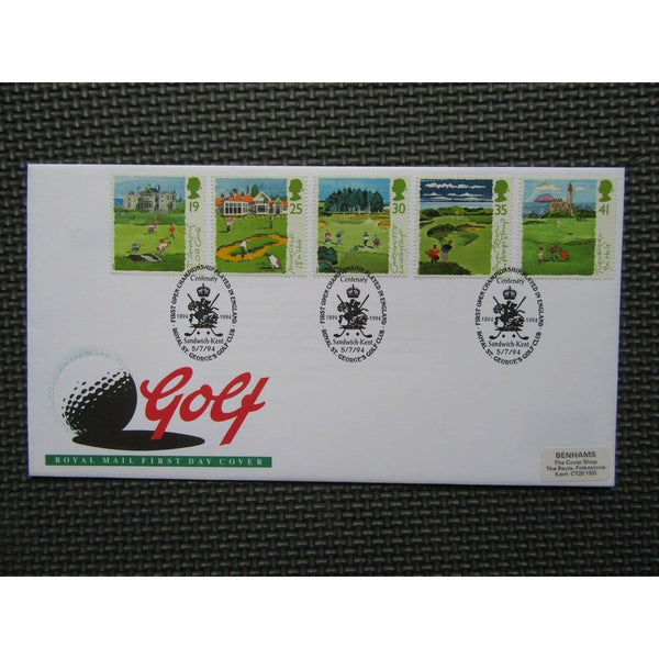 G.B FDC - Golf PM 'First Open Championship In England, St George's' 05/07/94 - uk-cover-lover