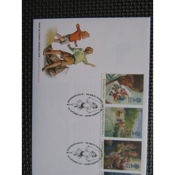 "G.B FDC 1997 ""Enid Blyton's Famous Five"" PM ""Worlds Favourite Aunt"" 09/09/97 - uk-cover-lover"