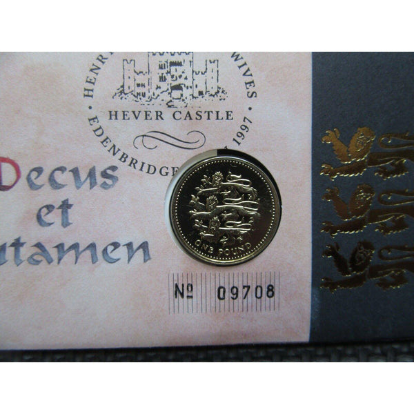 1997 Royal Mail / Royal Mint - The Great Tudor £1 Coin Cover 28/01/97 - uk-cover-lover