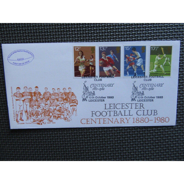 "G.B First Day Cover ""Leicester Football Club - Centenary 1880-1989"" 10/10/80 - uk-cover-lover"