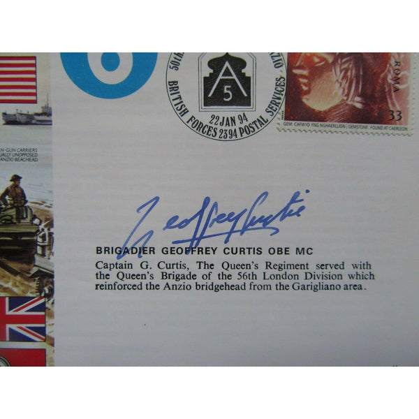 JS 50/44/1 'Operation Shingle' Geoffrey Curtis Signed Cover 22/01/94 - uk-cover-lover
