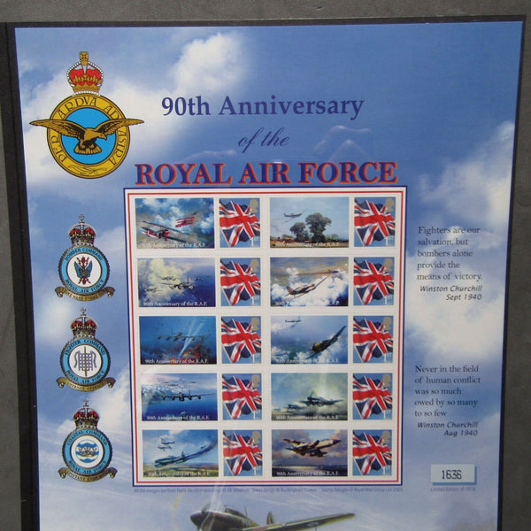 "G.B 2008 Buckingham Covers ""90th Anniversary of the RAF"" Stamp Sheet - uk-cover-lover"