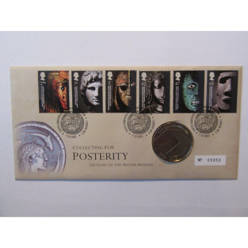 2003 G.B Coin Cover - Collecting For Posterity 250 Year Of The British Museum - uk-cover-lover