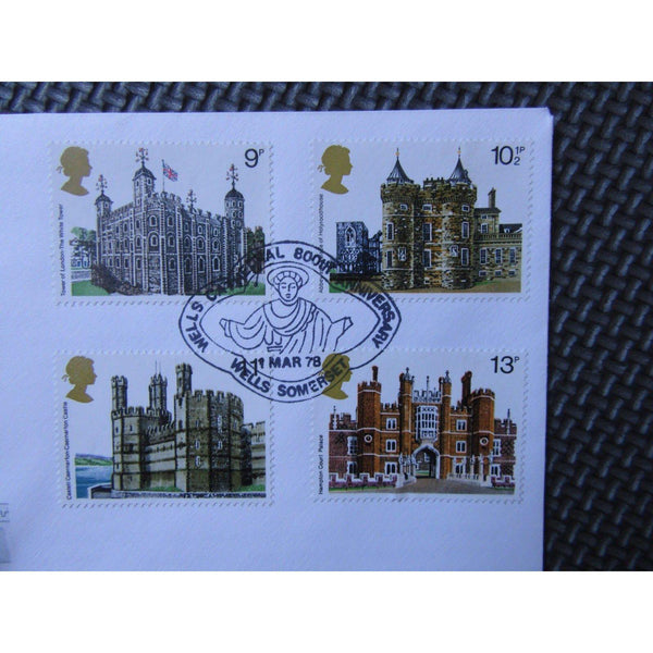 Cotswold FDC - Historic Buildings - PM 'Well's Cathedral, 800th Anniv.' 01/03/78 - uk-cover-lover
