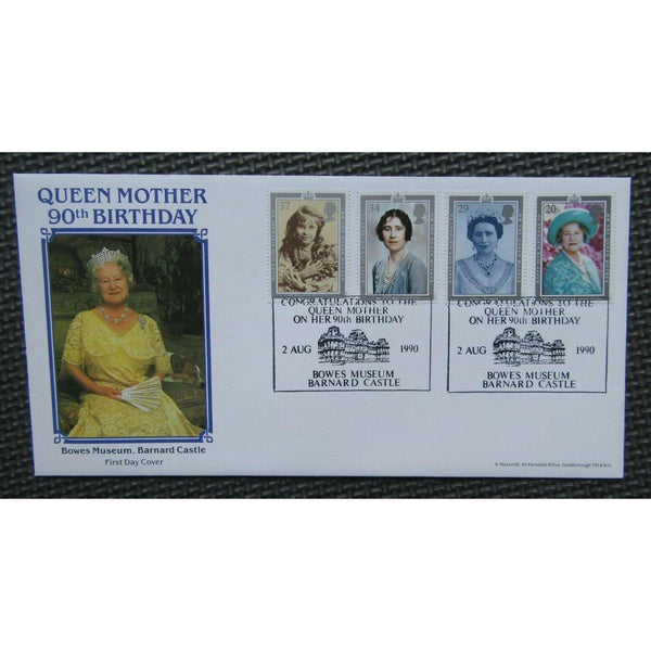 S. Muscroft Official Cover - The Queen Mother's 90th Birthday - 02/08/90 - uk-cover-lover