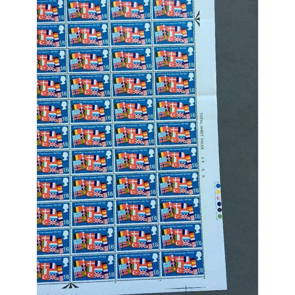 02/04/69 Notable Anniversaries 1s 6d NATO Stamp Sheet 120 Stamps - uk-cover-lover