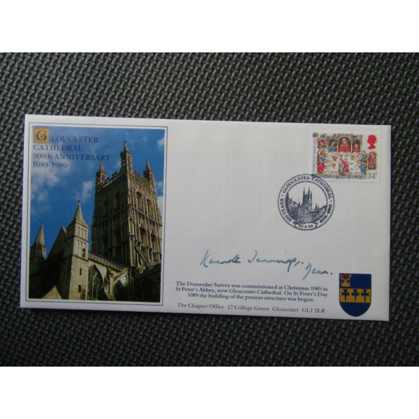 Gloucester Cathedral 900th Anniversary Commemorative Signed Cover 29/06/89 - uk-cover-lover