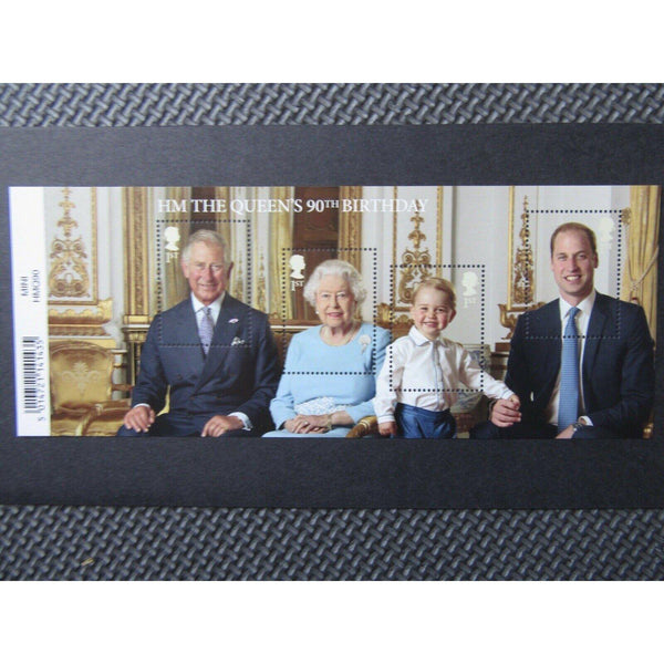 HM The Queen's 90th Birthday - 2016 Miniature Sheet - MS3832 MNH - uk-cover-lover