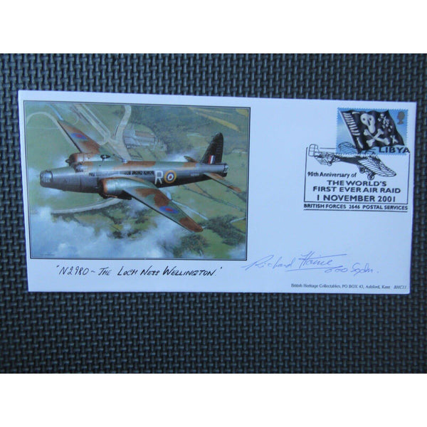 Flt Lt D. R. Wills DFC Signed Cover - Limited Edition - uk-cover-lover
