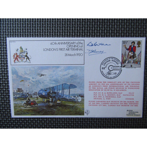"RAF FF14 Flown And Signed Cover ""D Mooney & B Rowland"" 28/03/80 - uk-cover-lover"