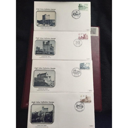 High Value Definitive FDC's X 4 All Individual S/H/S 18/10/88  (High Cat Value) - uk-cover-lover