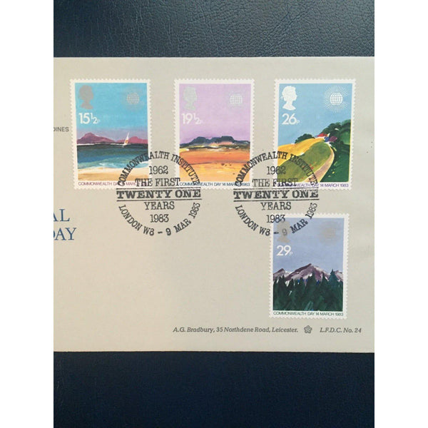 "09/03/83 Commonwealth PM ""Commonwealth Institute"" LFDC 24 CAT £15 - uk-cover-lover"
