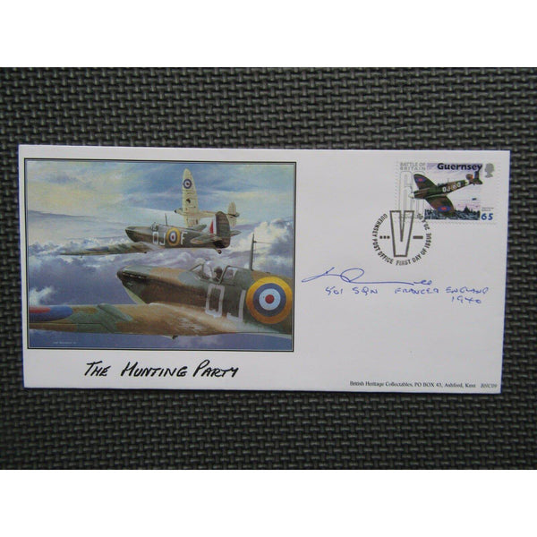 2000 British Heritage Collection WW2 Pilot K.N.T. Lee 501 Squadron Signed Cover - uk-cover-lover
