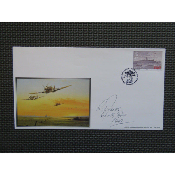 Flt Lt R. L. Jones Signed Cover - Flew 64 & 19 Squadron - Limited Edition - uk-cover-lover