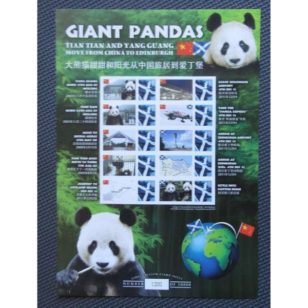 BC-376 Giant Pandas Tian Tian & Yang Guang Smilers Sheet - Ltd To 10,000 Copies - uk-cover-lover